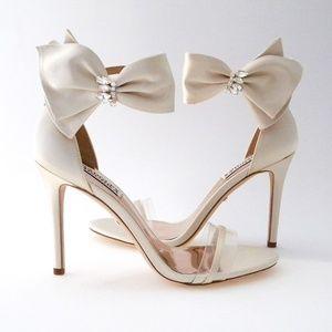 Badgley Mischka Wedding Sandals, Ivory 7M, Fran